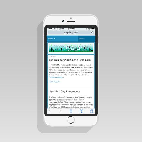 Trust for Public Land Gala iPhone